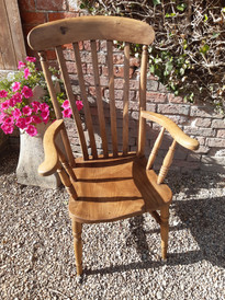 Victorian Pine Grandfather Kitchen Chair