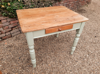 Farmhouse Kitchen Table with Painted Legs SOLD