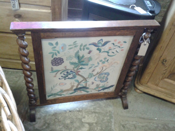 Embroidered Fire Screen