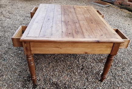 Victorian Pine Partners Desk