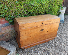 European Pine Dome Topped Chest