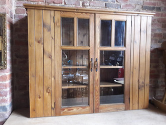 Pine Glazed Shelved Kitchen Unit