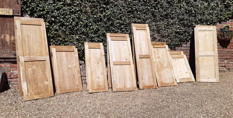 Selection of Pairs of Pine Victorian Cupboard Doors - Various sizes