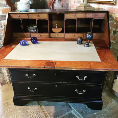 Oak Bureau painted Soot Black