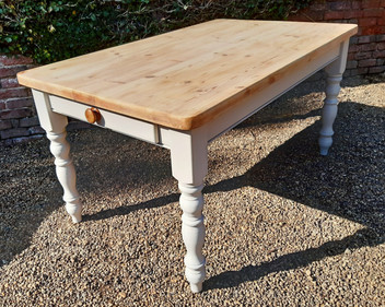 Farmhouse Kitchen Table, with Painted Legs £275