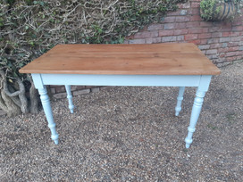 Pine Kitchen Table with Painted Legs  SOLD