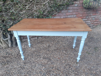 Pine Topped Kitchen Table