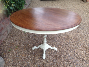 Mahogany Topped Serving Table