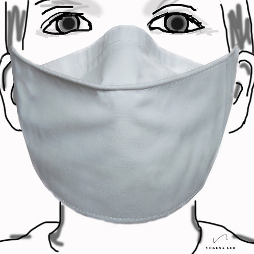 Dreierpackung - weisse 4-lagige Gesichtsmasken