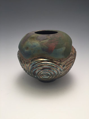 Raku Vase 6 - Creative Arts Group Gallery - SOLD