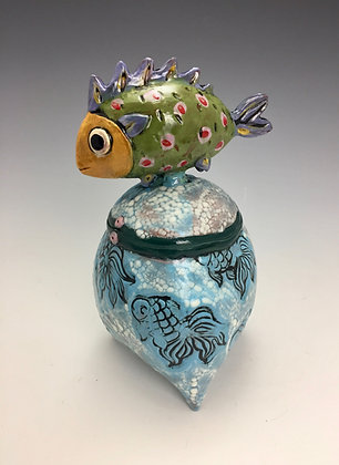 """How Did I Get Here? I"" - Fish Jar - SOLD, Direct by Me"