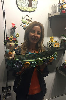 Lilia Venier Ceramics Customer, Bowl with Mermaid and Flowers