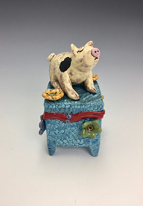 """Pinky"" - SOLD - Box with Pig"