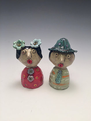 Maria and Mark - SOLD - Salt/Pepper Shakers Man and Woman
