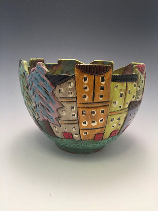 Sorrento II - SOLD - Bowl with Buildings
