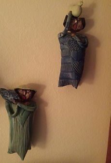Lilia Venier Ceramics Dolls Wall Art