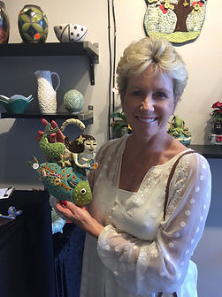 Lilia Venier Ceramics Customer, Mermaid and Fish Tile