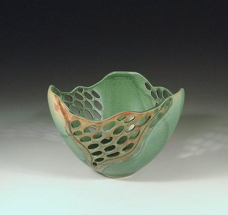 Jade Rain - SOLD - Bowl with Piercings