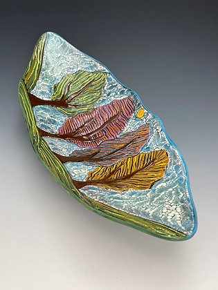 Sunny in the Valley, Tray with Trees, Top View, Lilia Venier Ceramics