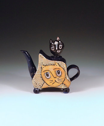 Kitty, Kitty - SOLD - Teapot with Cats