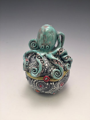 Pulpo Azul - SOLD - Jar with Octopus