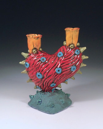 Spiky Heart - SOLD - Candelabra with Heart and Spikes