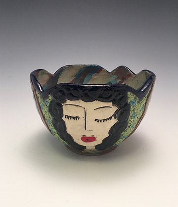 Party Girls - SOLD - Bowl with Women's Faces