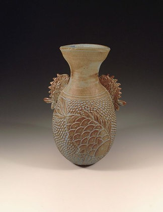 Swimming Up - SOLD - Vase with Fish