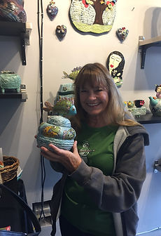 Lilia Venier Ceramics Customer, Jar With Fish