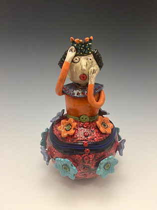 """Red Queen""  SOLD - Jar with a Red Queen"