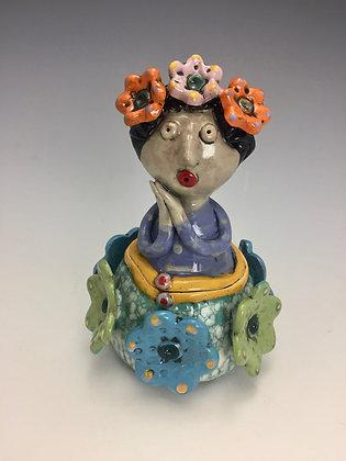 """Carmen"" - SOLD - Artful Home - Jar with Girl"