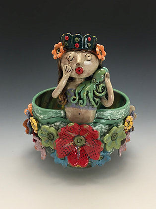 """Queen Leticia"" - SOLD - Artful Home - Bowl"