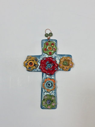 Cross, Wall Art, Front View, Lilia Venier Ceramics