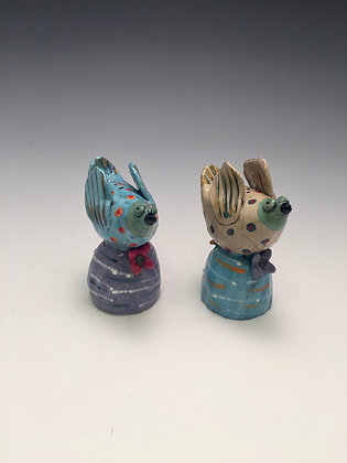 Coco and Max - SOLD - Salt/Pepper Shakers Birds