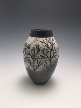 Raku Vase 5 - Creative Arts Group Gallery - SOLD