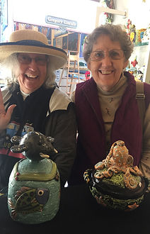 Lilia Venier Ceramics Customer, Jars with Walrus and Octopus