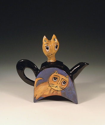 Kitty Cats - SOLD -Teapot with Cats