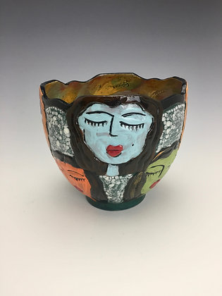 """Choir Friends"" - SOLD - Bowl with Four Women in Choir"