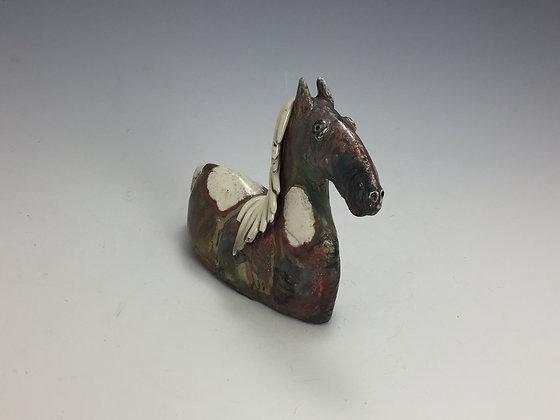 Raku Horse Sculpture - SOLD