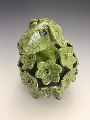 Balthazar - SOLD OUT, Artful Home - Green Sheep, Raku Sculpture