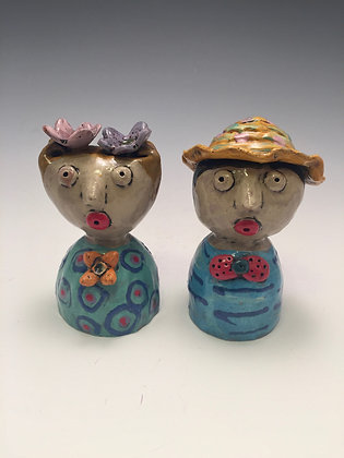 Lisa and Louie - SOLD - Salt/Pepper Shaker, Man and Woman