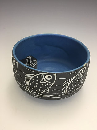 Blue Bowl with Fish - SOLD