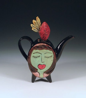 Sisters - SOLD - Teapot with Women