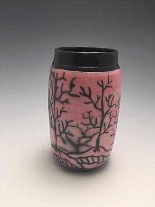 Raku Vase 2 - Creative Arts Group Gallery - SOLD