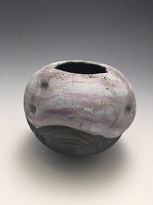 Raku Vase 4 - Creative Art Group Gallery - SOLD