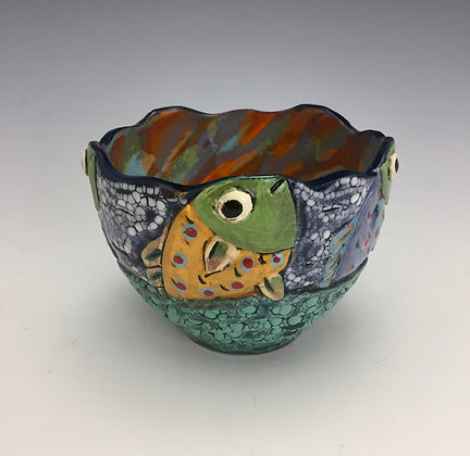 """""""Feeding Time"""" - SOLD - Bowl with Fish"""