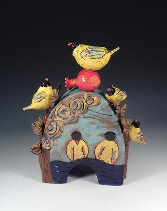 Orioles - SOLD - Jar with Birds