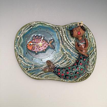 Mermaid Clock - SOLD