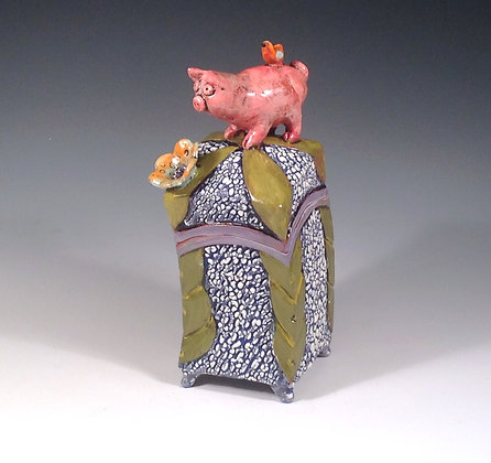 This Little Piggy 2 - SOLD - Box with Pig