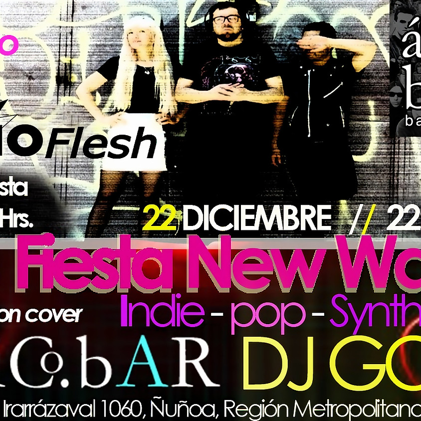 Vioflesh en vivo + fiesta new wave